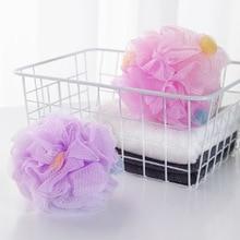 FOURETAW baignoire de bain douce de grande taille, boule de bain, boule de bain fraîche, serviette de bain, nettoyage en maille, produit éponge de lavage