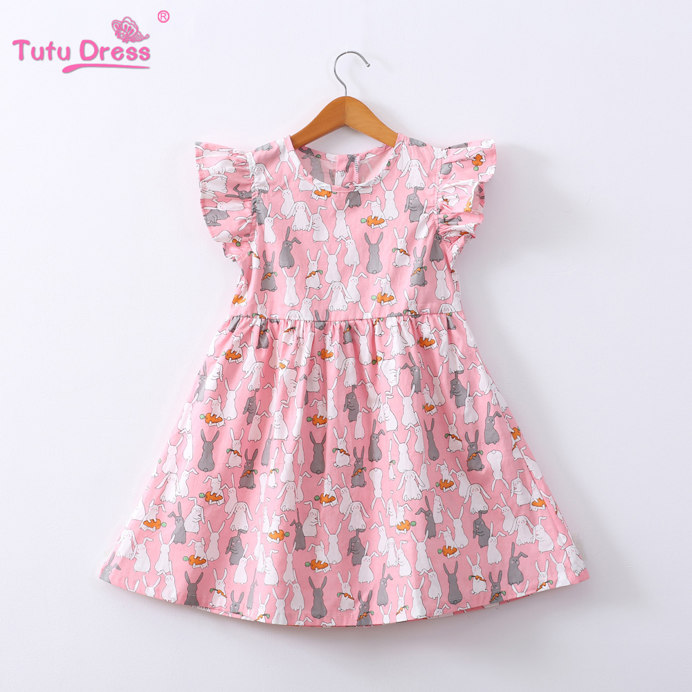 Princess Rabbit Girl Dress Costumes Clothes for Kids Baby Sleeveless A-Line Dresses New Year Party Clothing Baby Girls Clothes chiaro ch 254015101