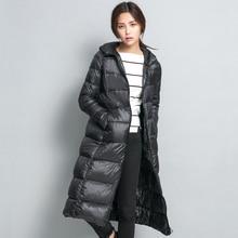 2016 Long Women Winter Down Jacket Women's Parka Ultra Light Weight 90% Duck Down Coat Female Outerwear