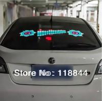 Free Shipping 90 25cm Car Sound Music Activated Equalizer Glow LED Flash Light Kit Sticker Subwoofer