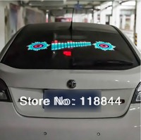 Free Shipping!! 90*25cm Car Sound music Activated equalizer glow LED Flash light Kit Sticker subwoofer 90X25cm 12V