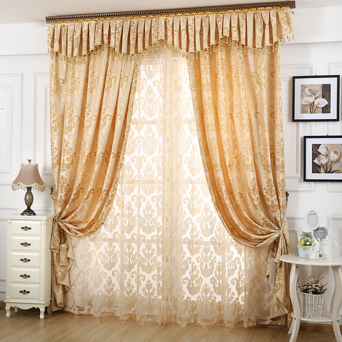 On Sales Curtain Fashion Modern Jacquard Curtains For Living Room Bedroom Window Treatment