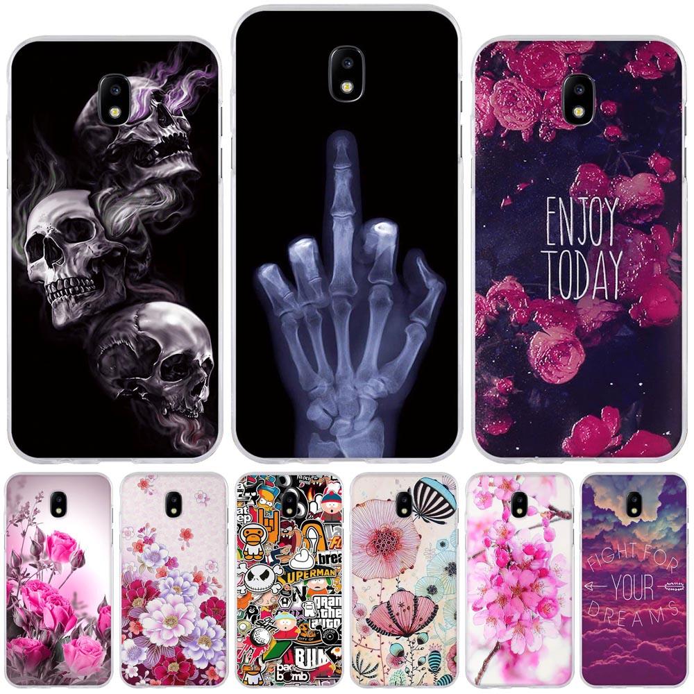 Galleria fotografica Flower Painted Case For Coque Samsung J5 2017 Case EU Version Case Cover Soft Tpu Fundas For Samsung Galaxy J5 Pro J530F Bags