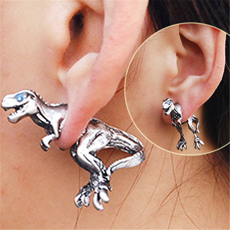 US $0.79 29% OFF|1 x Ear Stud women Alloy Earring Hot Selling Cool Dinosaur  T rex Tyrannosaurus Rex Cute Dragon Stud Earrings Set 36.5 x 22.8mm-in ...