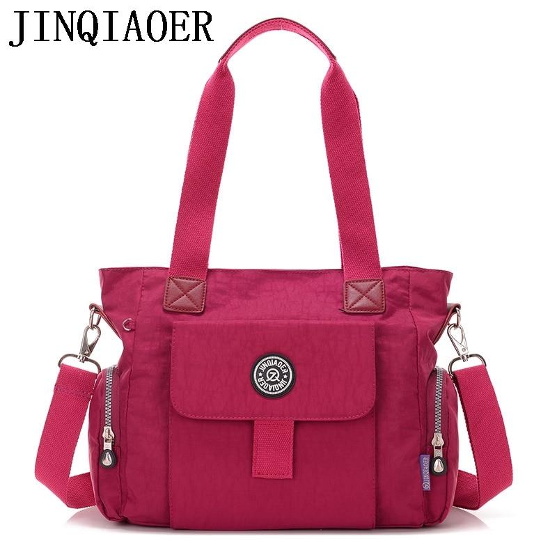 Fashion Women Crossbody Bags Handbag Zipper Solid Waterproof Nylon Messenger Bag