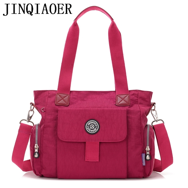 Fashion Women Crossbody Bags Handbag Zipper Solid Waterproof Nylon Messenger Bag Casual Shoulder Bags Tote Bolsas Femininas