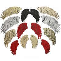6 farbe Große Pailletten Patch DIY Engel Flügel Eisen Auf Patches Für Kinder Kleidung Nähen-Auf Bestickt Patch Motiv applique Aufkleber
