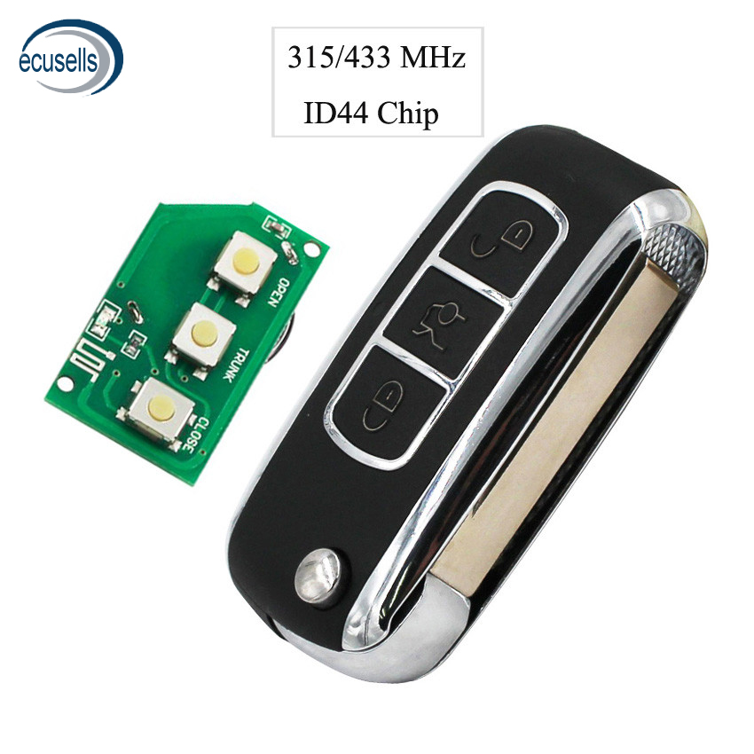 3 Button Smart Remote Key Fob Keyless For BMW Bentley Style 315MHZ 433MHZ With ID44 Chip PCF7935 HU92 Blade