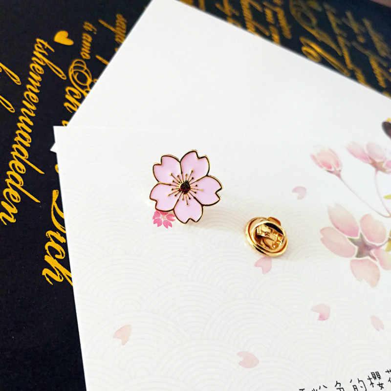 Nowa biżuteria dziewczyna Sakura kołnierz igły jednolite kroplówki odznaka kwiat kołnierz igły broszka odzież