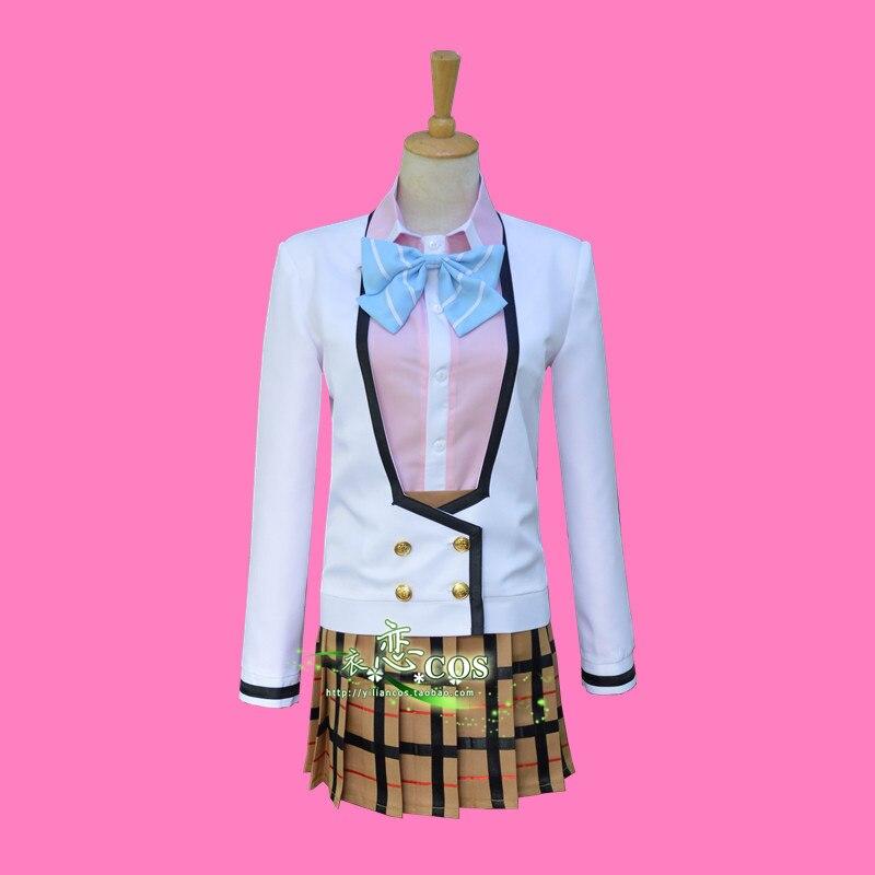 Masamune-kun no Revenge Aki Adagaki Aki Yasaka High School Grils Uniform Dress Cosplay Costume F008