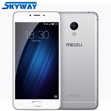 "Original Meizu M3S Mini 4G LTE Mobile Phone 5.0"" 2.5D Glass MT6750 Octa Core 3GB RAM 32GB ROM 13.0MP 3020mAh GPS Fingerprint ID"
