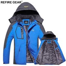 Refire Gear Men's Winter Fleece Jackets Thick Warm Outdoor Sport Waterproof Soft Shell Coats Hiking Camping Climbing Ski Jacket недорого