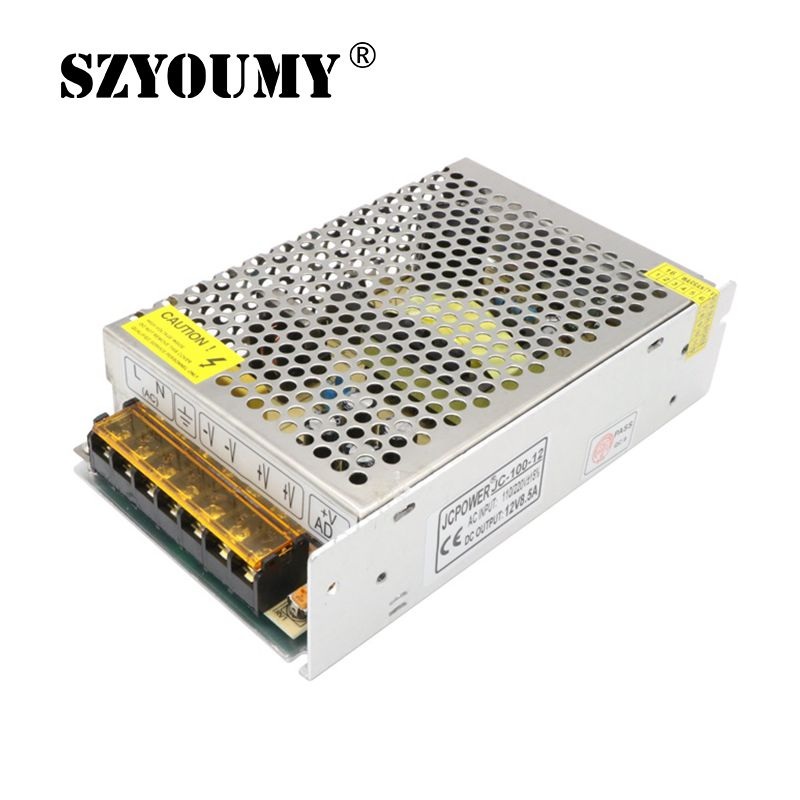 SZYOUMY DC 12V Power Supply Lighting Transformer driver Switch for LED Strips Adapter 110V 220V 5A