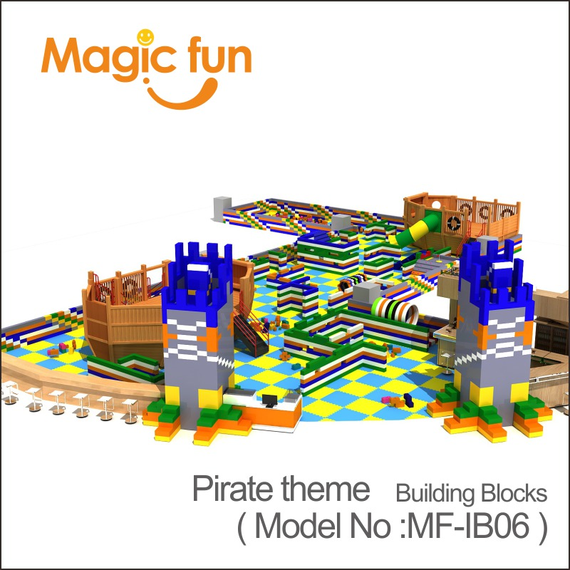 MAGIC FUN Amusment park cheap easy build colourful Building Blocks for children