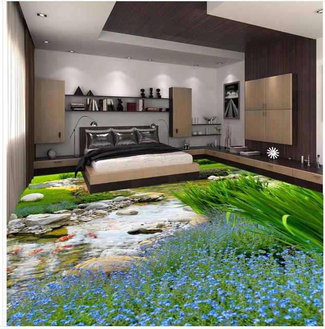 3d vloer schilderen behang 3d badkamer behang waterdichte Gras ...