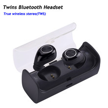 New Mini Invisible Twins TWS True Wireless Bluetooth Headset Earphones CSR 4.1 Handsfree for iPhone 7 Plus,Samsung S6 Xiaomi(China)