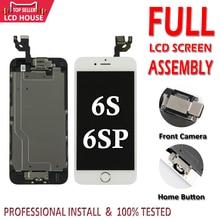 Conjunto completo de pantalla LCD para iPhone 6S 6S Plus, repuesto de digitalizador de pantalla táctil con botón de inicio y cámara frontal