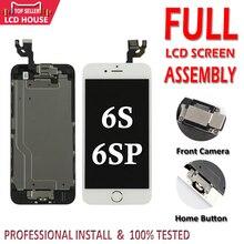 مجموعة كاملة LCD ل فون 6 S 6 S زائد LCD مع المنزل زر الجبهة كاميرا كاملة الجمعية عرض محول الأرقام بشاشة تعمل بلمس replacemen