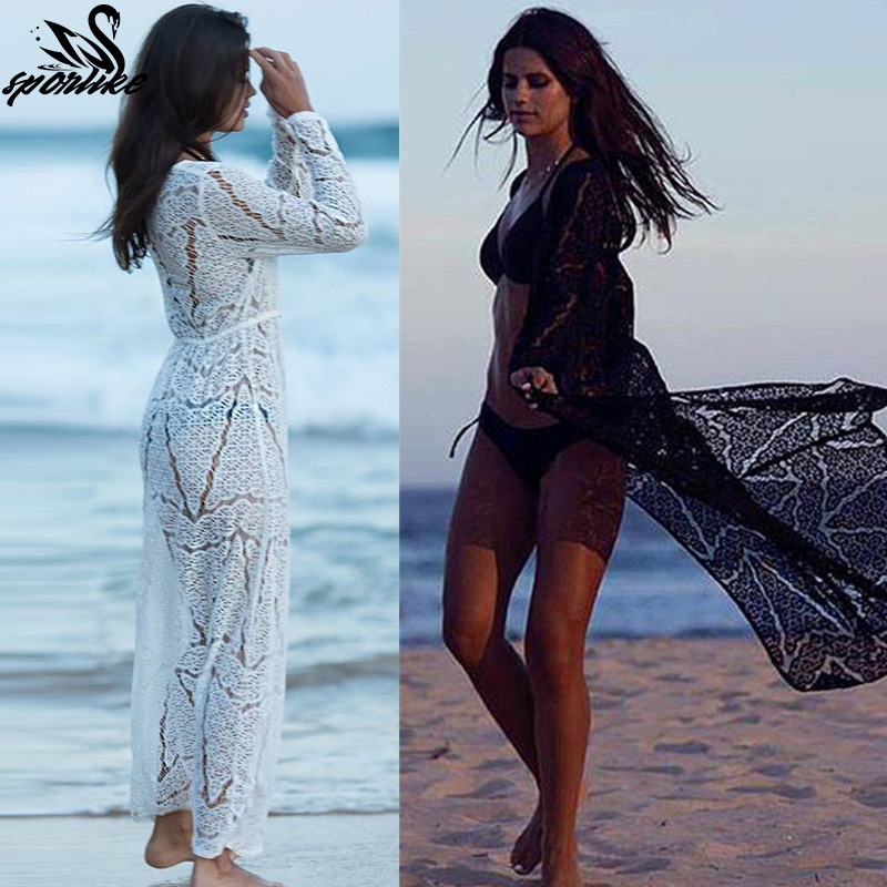 0b10bffd7e Long Crochet Beach Cover up Robe de Plage 2 styles - Turnt Up Boutique