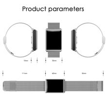 Waterproof Rectangle Smart Watch with Heart Rate Monitor