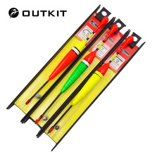 OUTKIT 3pcs/lot Carp Fishing Line Bobber Group Fish Float Fishing Tackle China Hook Buoy Fish Floating Tiple Suit Accessories