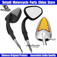 Motorcycle Rearview Mirrors Black/Chrome Side View Mirror For Harley Dyna Street Bob FXDB 2007-2017 Road King Models 2014-later