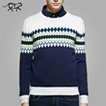 2017 Spring Sweater Men Plaid O-neck Casual Knit Jumpers Sweaters Mens Long Sleeve Pullovers Men Brand Sweater Men Stylish S-4XL