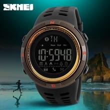 Smartwatch nuevo skmei marca bluetooth podómetro calorías relojes de moda los hombres 50 m impermeable digital de los hombres mujeres reloj del deporte inteligente