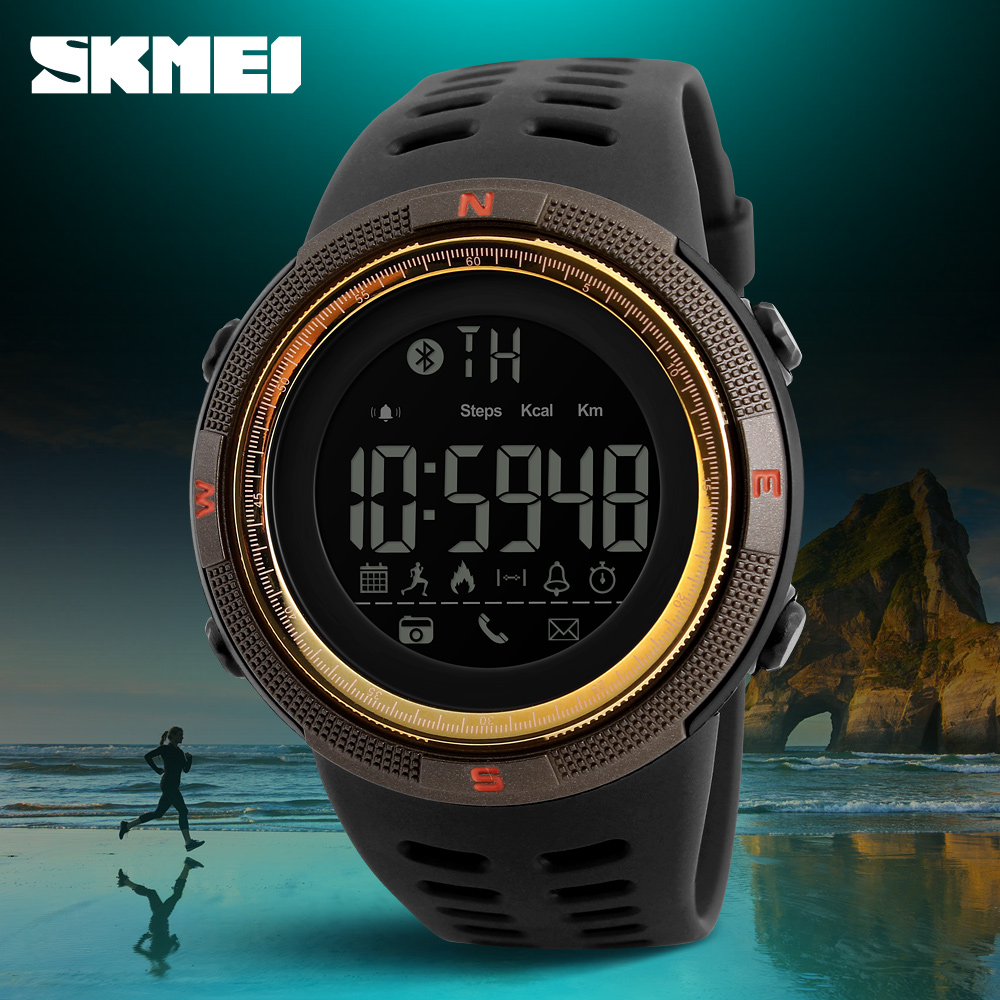 SmartWatch New SKMEI Brand Bluetooth Calorie Pedometer Fashion Watches Men 50M Waterproof Digital Men's Women Smart Sport Watch