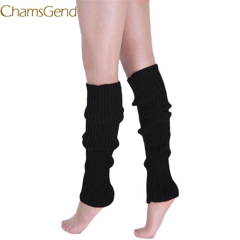 Chamsgend гетры NewlyDesign Модные женские теплые зимние классические вязаные носки описание хорошие продажи Прямая доставка