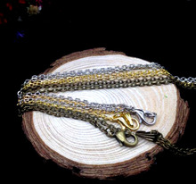 20pcs 2*3mm Antique Bronze/silver/gold color Cable Chains Link 70cm, jewelry diy findings, necklace pendants chain unisex gift