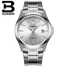 Новый Бингер Мода ЖЕНЕВА Марка Часы Мужчины Из Нержавеющей Стали Кварцевые Часы Роскошные Наручные Часы мужской Часы relogio masculino