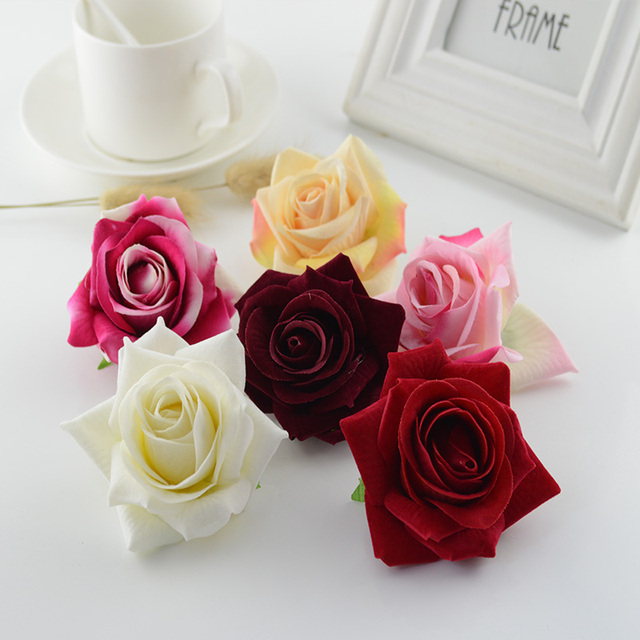100pcs artificial flowers quality flannel 7cm christmas home wedding 100pcs artificial flowers quality flannel 7cm christmas home wedding decoration bridal accessories clearance silk roses head mightylinksfo