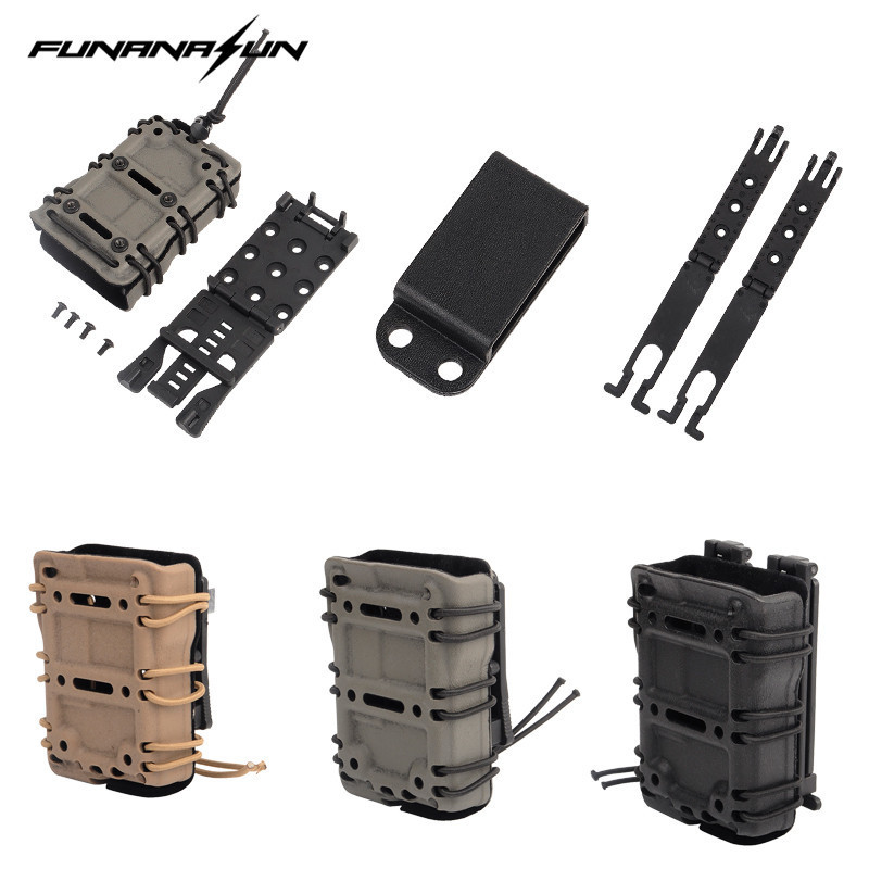 Tactical 5.56 Mag Pouch Carrier with Molle/Belt Fast Attach Millitary Molle Quick Release Single Pouch Holster