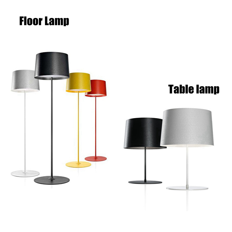 Simple design colorful Floor Light Kung Modern Creative Nightstand lamp switch adjustable 3PCS E27 led lamp free shipping