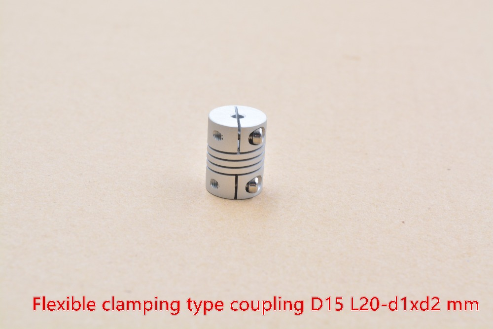 D15 L20 Hole Minimum 2mm Maximum 8mm Shaft Coupler Flexible Clamping Coupling Stepper Motor For Linear Shaft Optical Axis 1pcs
