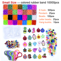 DOLLRYGA 10000pcs Rubber Loom Box DIY Bands Set Kid Bracelet Silicone Rubber Bands Elastic Rainbow Weave Loom Bands Children Toy