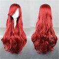 OHCOS Волна Синтетические Волосы Длинные Коричневый Красный Русалочка Ариэль Косплей Парик Плутон Instock