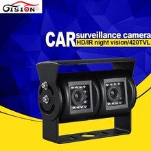 Gision Dual Cam Вид Сзади Автомобиля Камера Заднего Вида ИК Ночного Видения Водонепроницаемый Открытый HD Автомобиля Камера Заднего Вида Бесплатная Доставка