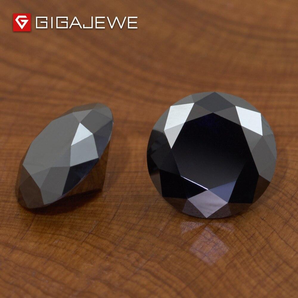 GIGAJEWE Moissanite noir 6.5mm rond coupe lâche pierre laboratoire diamant bricolage bijou bijoux faisant des charmes de mode femme petite amie cadeau-in Perles from Bijoux et Accessoires    3