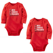 2016 Fashion Christmas Newborn Toddler Baby Girl Clothes Long Sleeve Red Cotton Bodysuit Playsuit Outfit