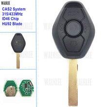 WALKLEE Remote Key fit for BMW CAS2 CAS2+ System X3 X5 Z3 Z4 Z8 3/5/6/7 Series 315MHz 315LP 433MHz Switchable HU92 Car Alarm