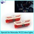 1 Pair for Mercedes Benz S Class W222 S400 S500 S550 S600 S63 S65 LED car door welcome lights Logo Projector car-styling