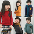 2014New Arrival children t shirts,long sleeve fashion T-shirts,solid kids girls t-shirt kids tops tees boy's t shirt