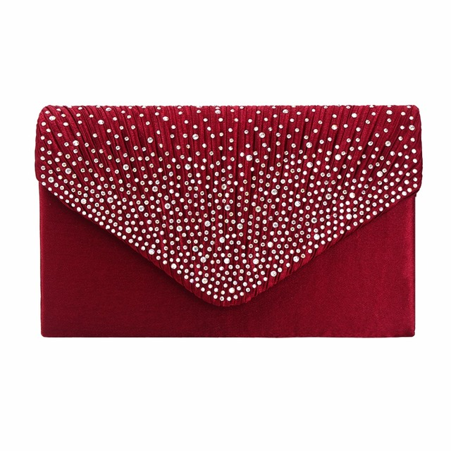 2017 Luxury Shiny Hand Bags Big Envelope Clutch Bag Glitter Ladies Wedding Bags Evening Bags For Women Party Black purse Handba
