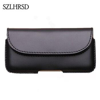 SZLHRSD Мужская поясная сумка из натуральной кожи, поясная сумка, чехол для телефона, для Xiaomi Mi Mix 2, 5,99 дюйма, черные чехлы, Аксессуары для мобиль
