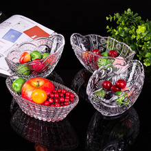 Glass Fruit Boat Transparent Plate Salad Dessert Douglas  Crystal