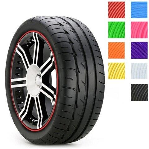 CHIZIYO 8M Car Wheel Hub Tire Sticker Strip Wheel Rim Tire Protection Care Covers Auto Accessories Parts For Volkswagen Golf 4 Islamabad