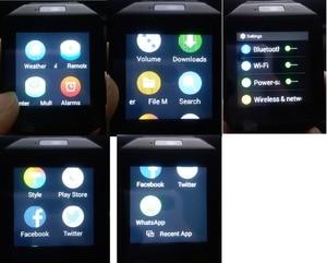 Image 2 - 3G WIFI reloj inteligente 4 GB ROM deporte de Facebook/Twitter/WhatsApp Internet QW09 Bluetooth Smartwatch Cámara 2,0 del podómetro tarjeta SIM
