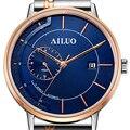 Japan Automatische Mechanische Bewegung Wasserdicht reloj hombre Frankreich männer Uhren Luxus Marke AILUO Männer Uhr Sapphire A6103